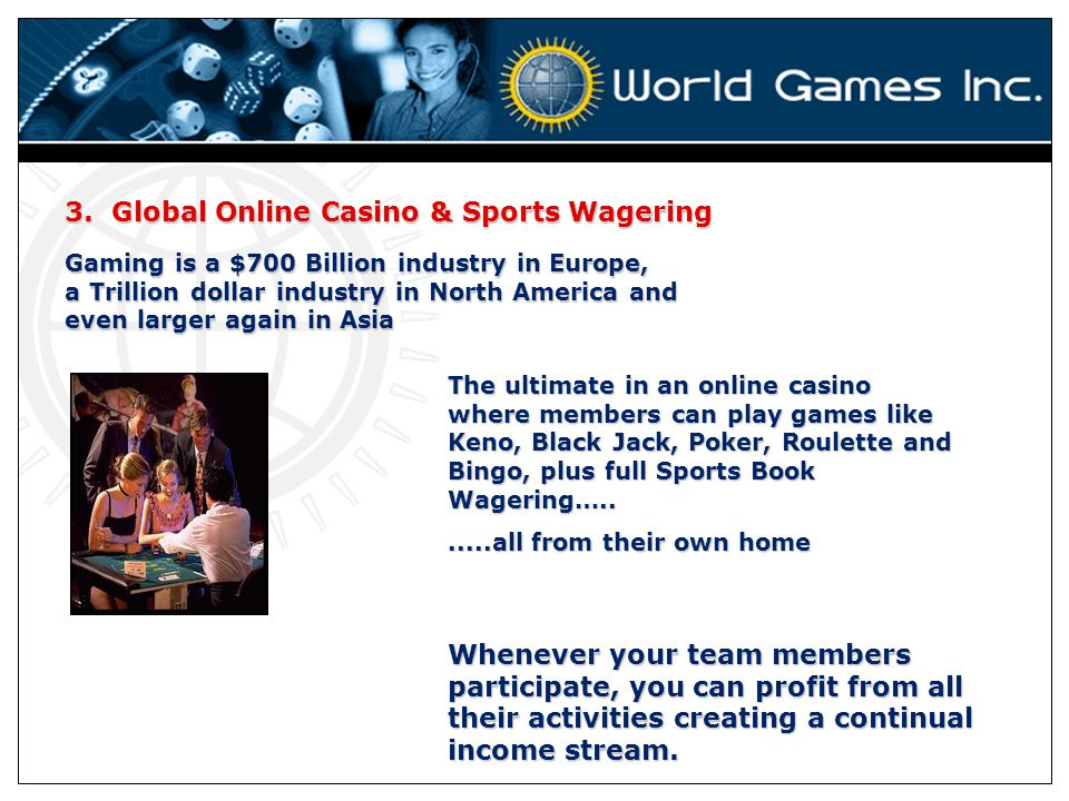 3. Global Online Casino & Sports Wagering