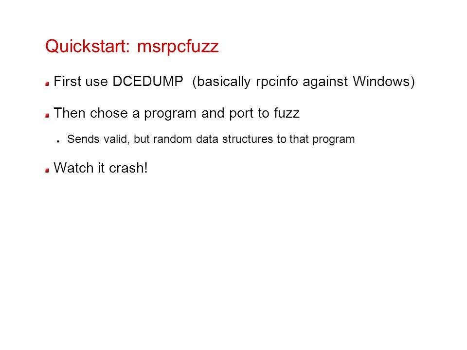 Quickstart: msrpcfuzz