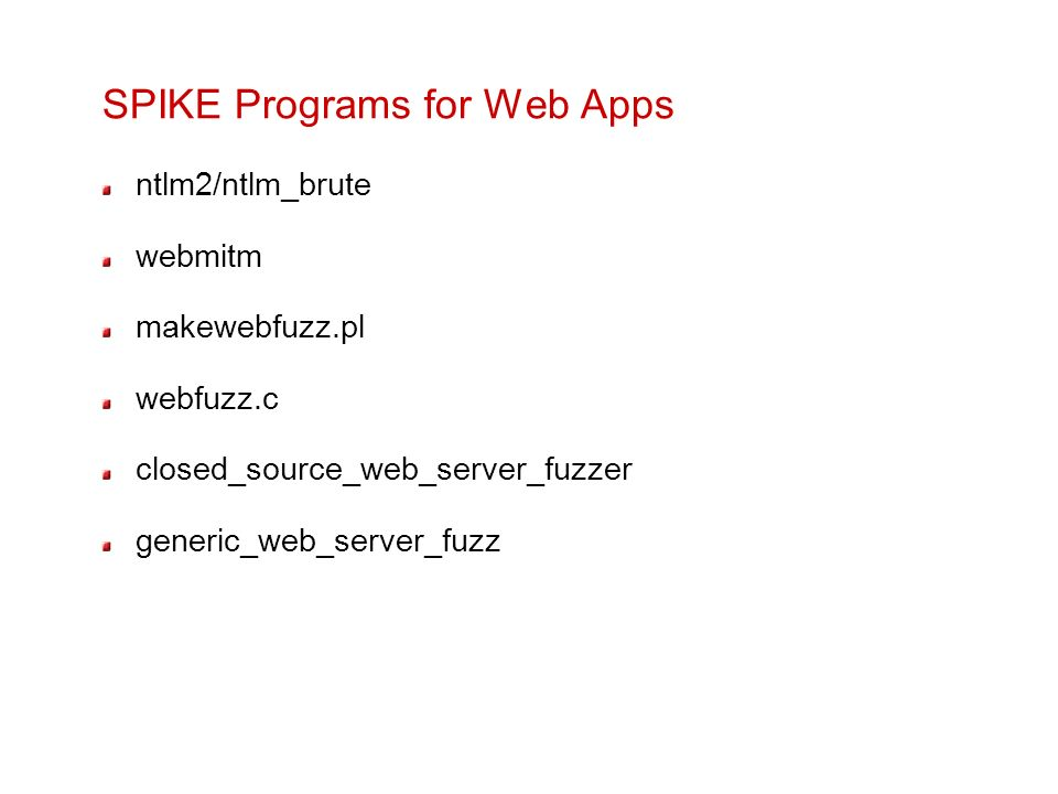 SPIKE Programs for Web Apps