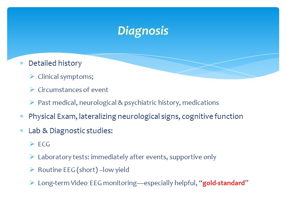 Diagnosis Detailed history