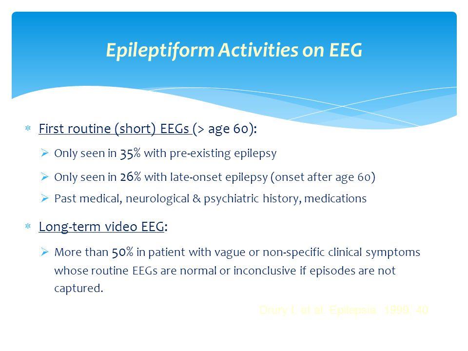 Epileptiform Activities on EEG