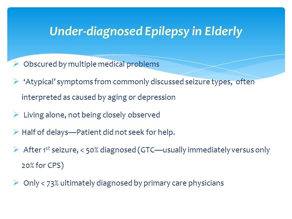 Under-diagnosed Epilepsy in Elderly