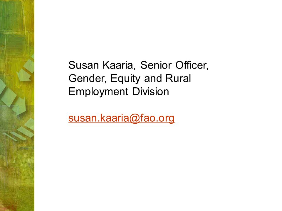 Susan Kaaria, Senior Officer,