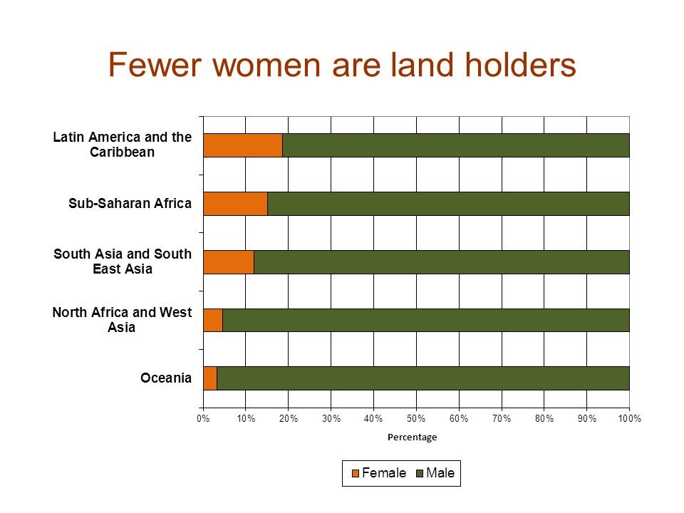 Fewer women are land holders