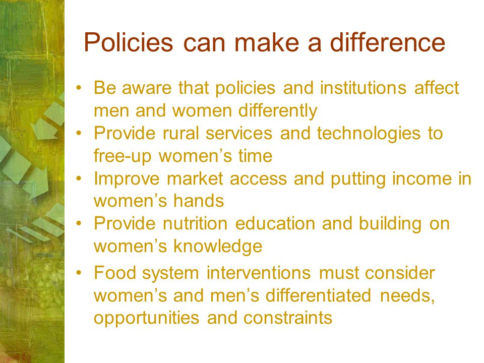 Policies can make a difference