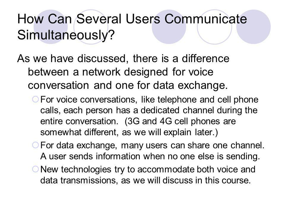 How Can Several Users Communicate Simultaneously