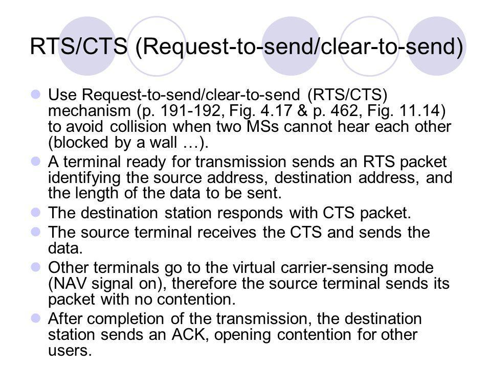 RTS/CTS (Request-to-send/clear-to-send)