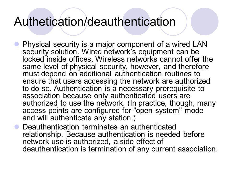 Authetication/deauthentication