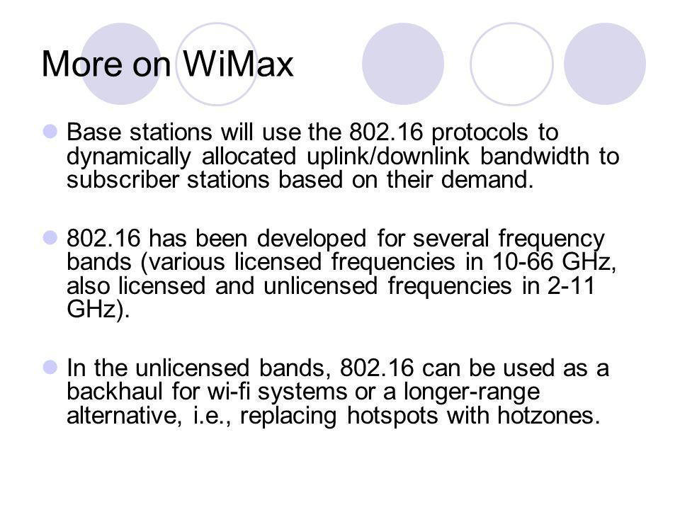 More on WiMax