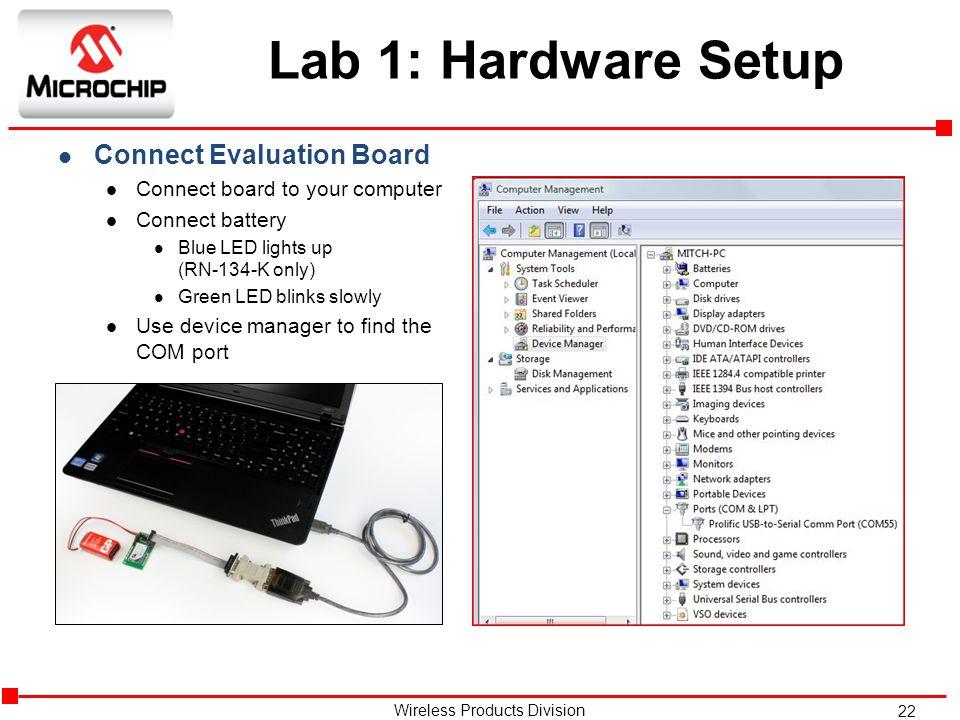 Lab 1: Hardware Setup Connect Evaluation Board