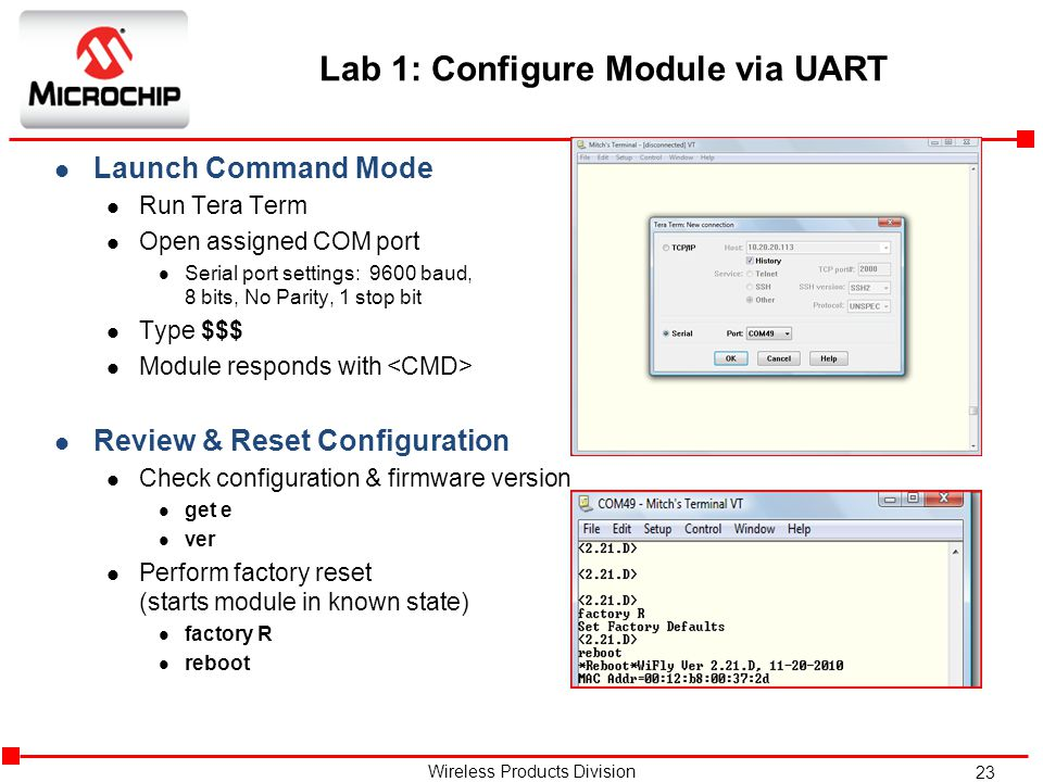Lab 1: Configure Module via UART