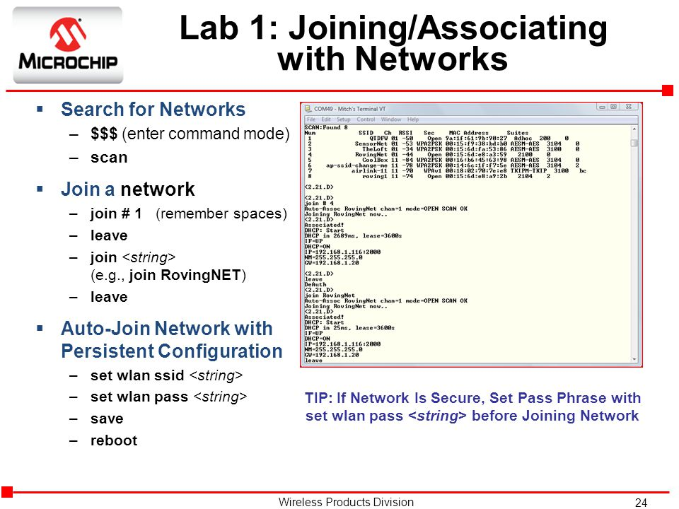 Lab 1: Joining/Associating with Networks