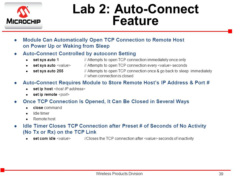 Lab 2: Auto-Connect Feature