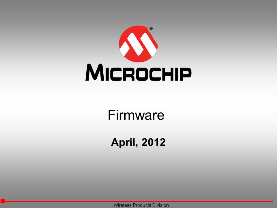 Firmware April, 2012