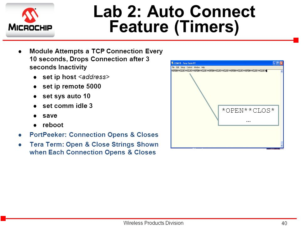 Lab 2: Auto Connect Feature (Timers)