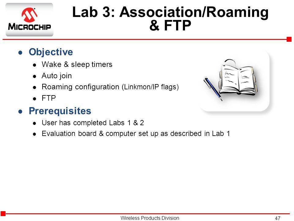 Lab 3: Association/Roaming & FTP