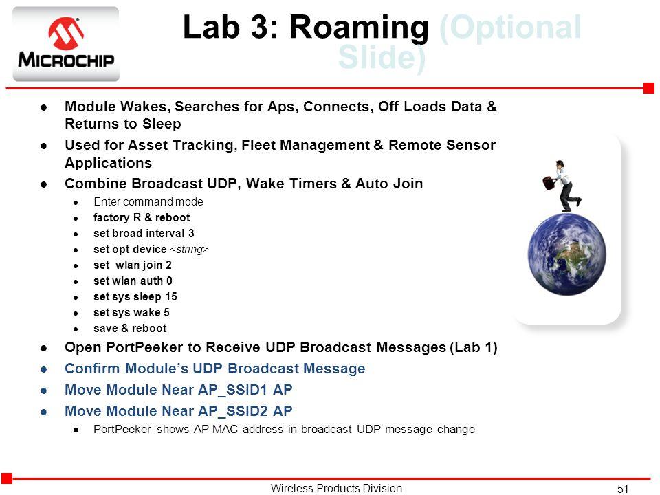 Lab 3: Roaming (Optional Slide)