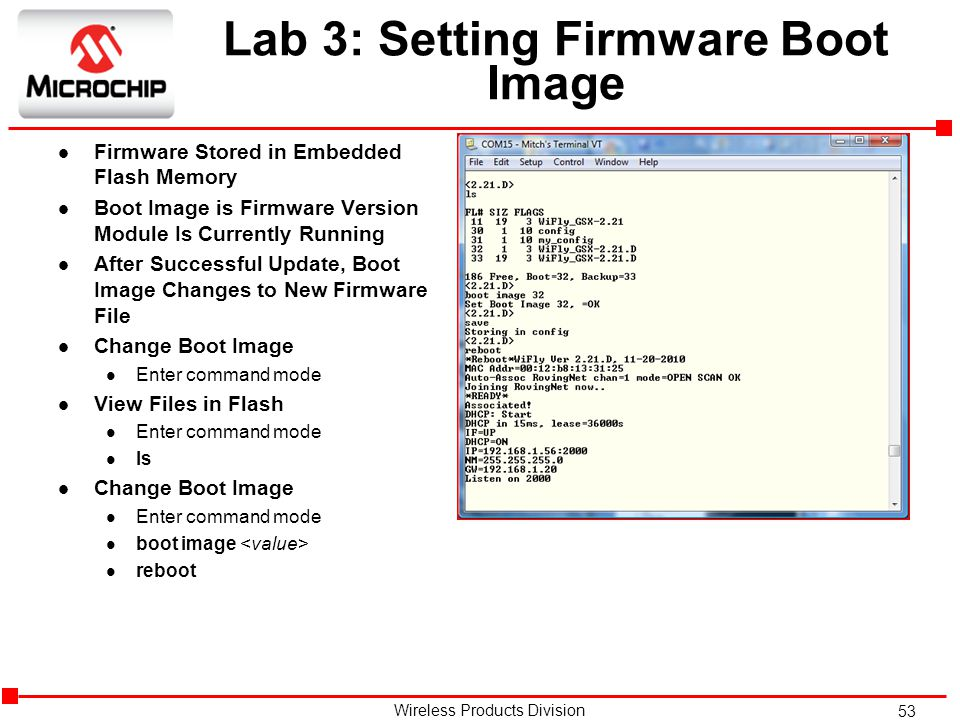 Lab 3: Setting Firmware Boot Image