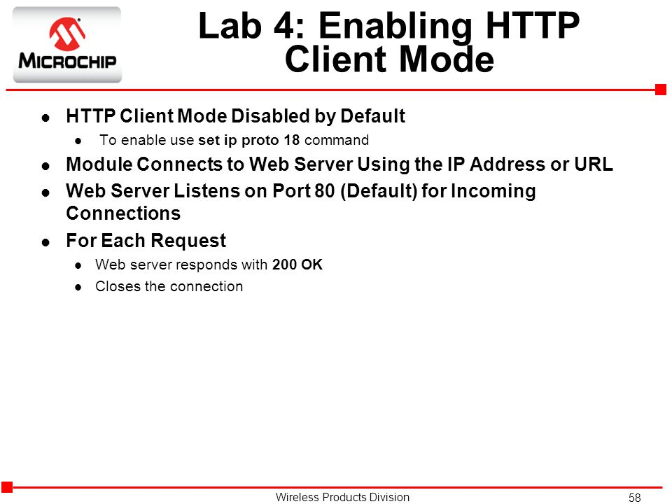 Lab 4: Enabling HTTP Client Mode