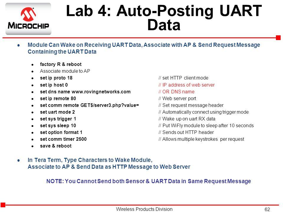 Lab 4: Auto-Posting UART Data