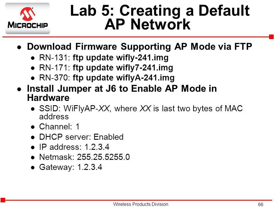 Lab 5: Creating a Default AP Network