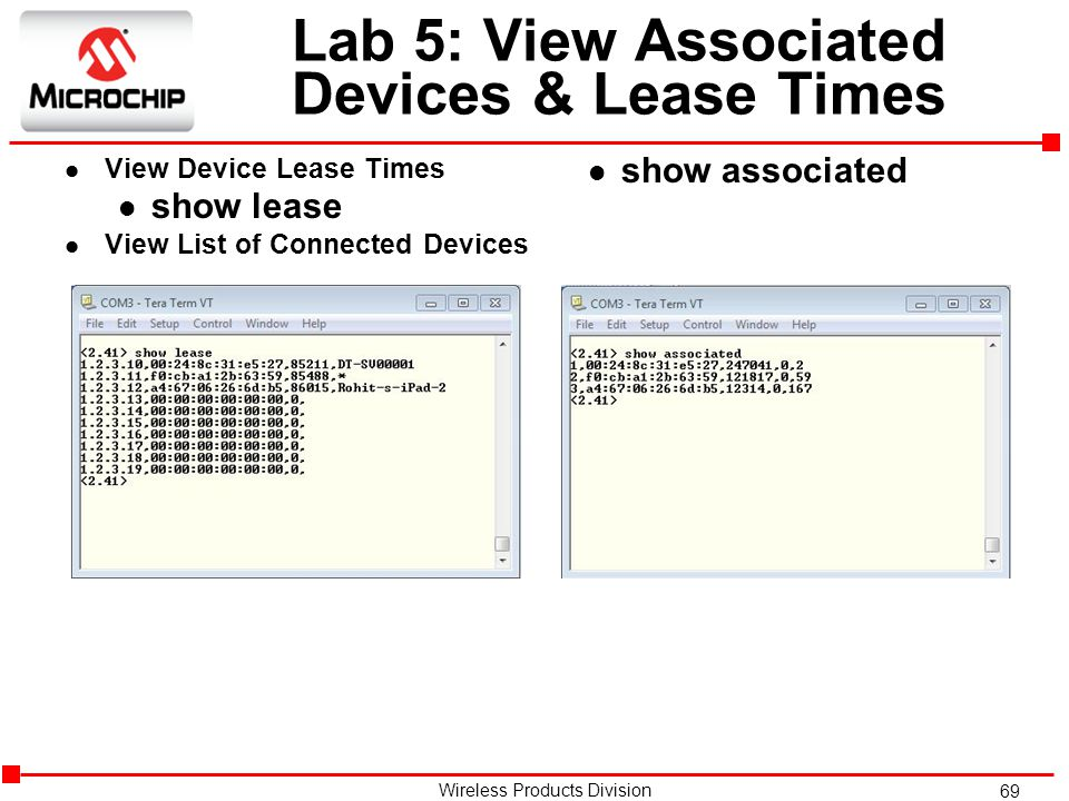 Lab 5: View Associated Devices & Lease Times