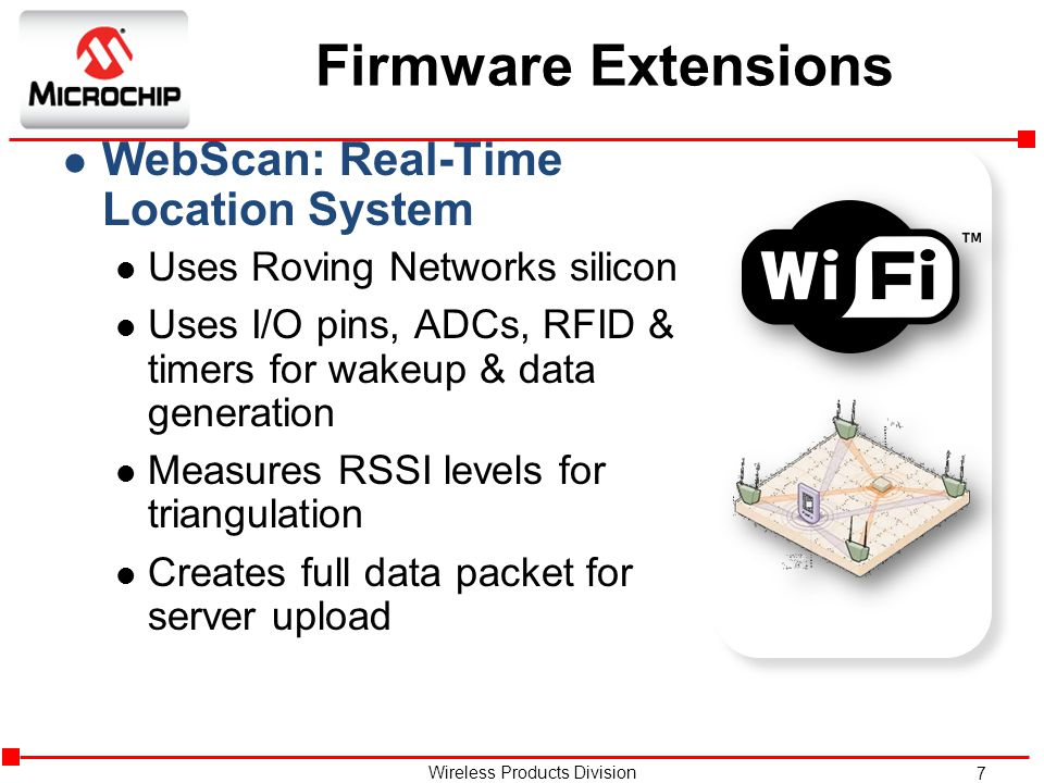 Firmware Extensions WebScan: Real-Time Location System