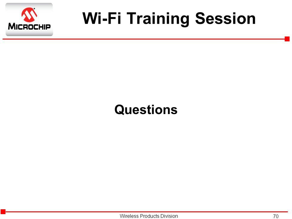 Wi-Fi Training Session