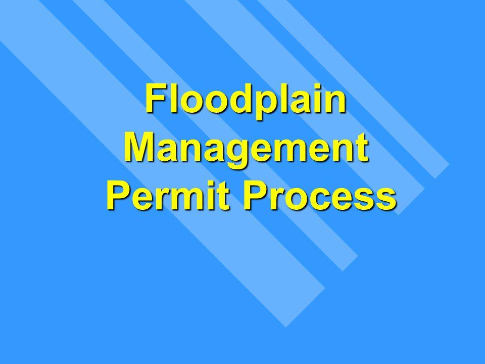 Floodplain Management Permit Process