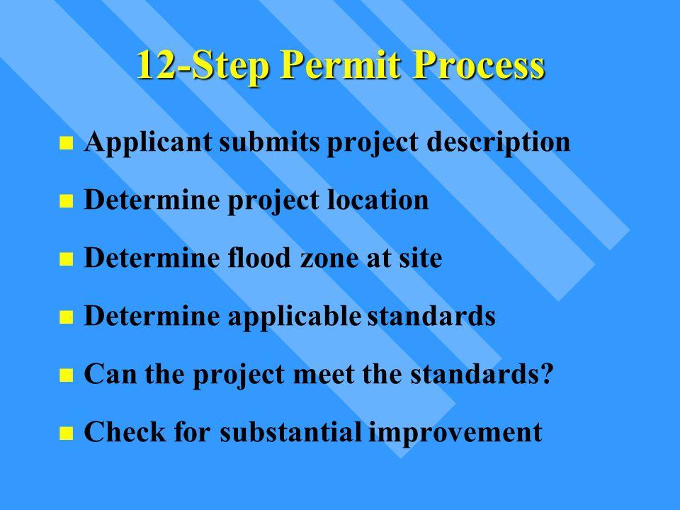 12-Step Permit Process Applicant submits project description