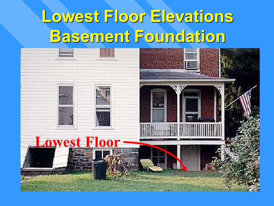 Lowest Floor Elevations Basement Foundation