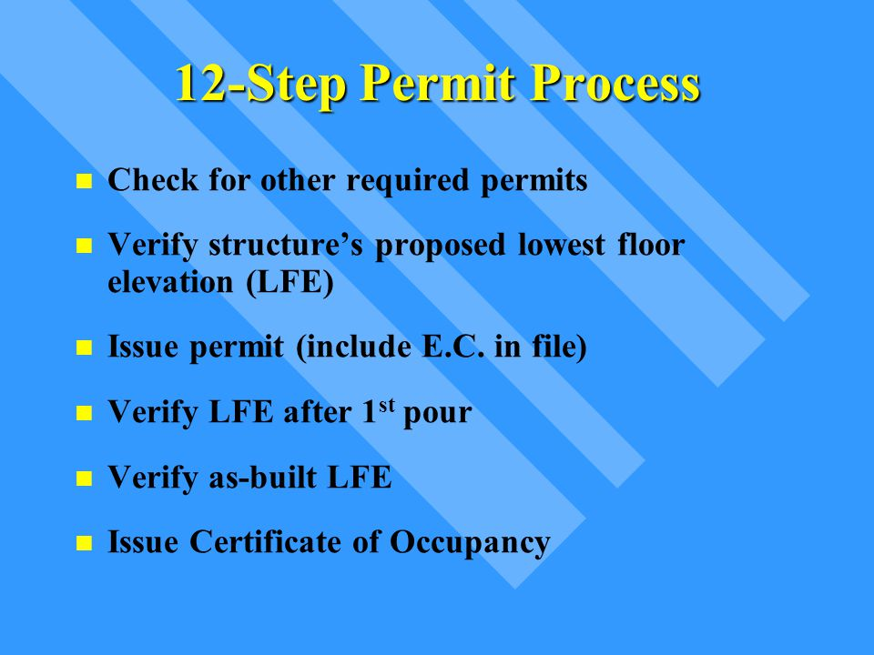 12-Step Permit Process Check for other required permits
