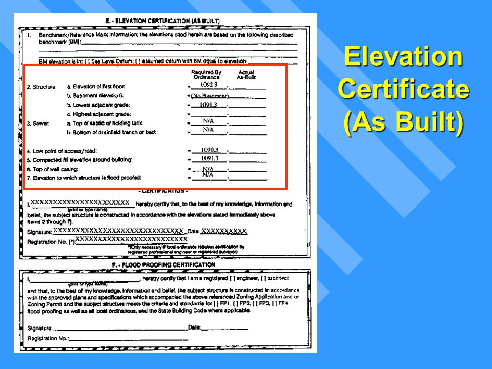 Top Of Bottom Floor Elevation Certificate : Floodplain management permit process ppt download