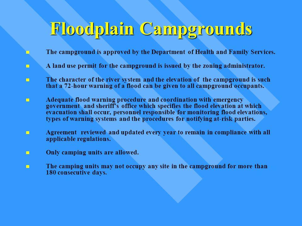 Floodplain Campgrounds