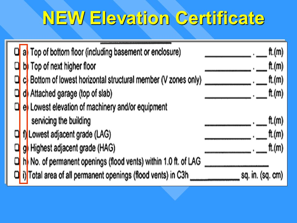 Lowest Floor Elevation Fema Form : Floodplain management permit process ppt download