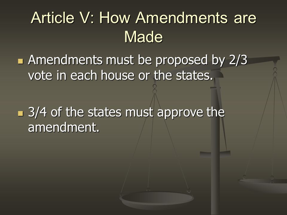 Article V: How Amendments are Made