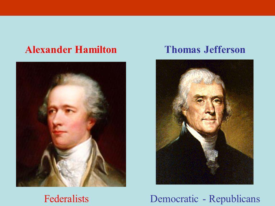 democratic republicans and federalists interpretation of Jeffersonian republicans vs federalists and the federalist party the democratic-republicans federalists supported a loose interpretation of.