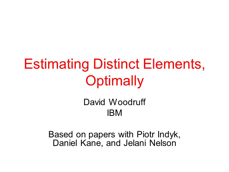Estimating Distinct Elements, Optimally