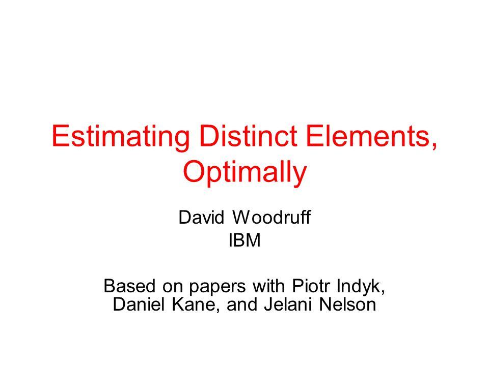 Estimating Distinct Elements, Optimally