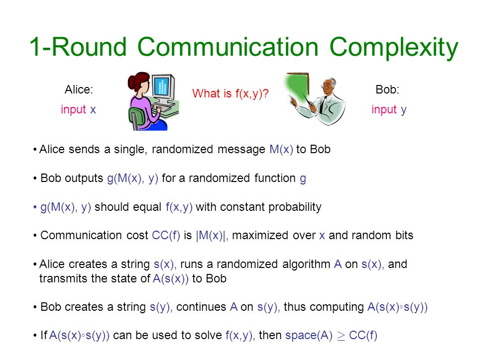 1-Round Communication Complexity