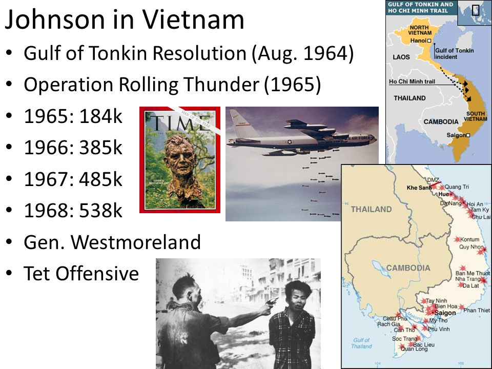 Johnson in Vietnam Gulf of Tonkin Resolution (Aug. 1964)