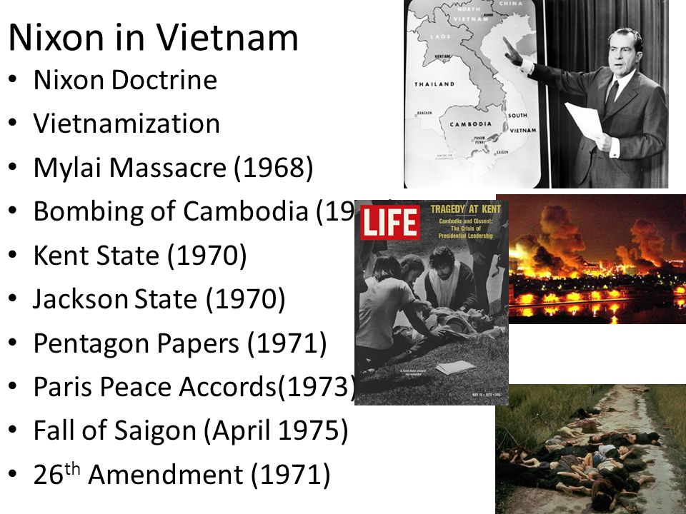 Nixon in Vietnam Nixon Doctrine Vietnamization Mylai Massacre (1968)