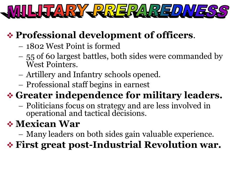 MILITARY PREPAREDNESS