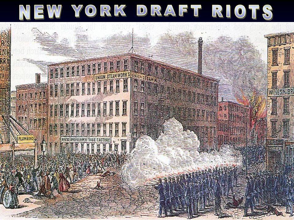 NEW YORK DRAFT RIOTS Picture: Draft riots