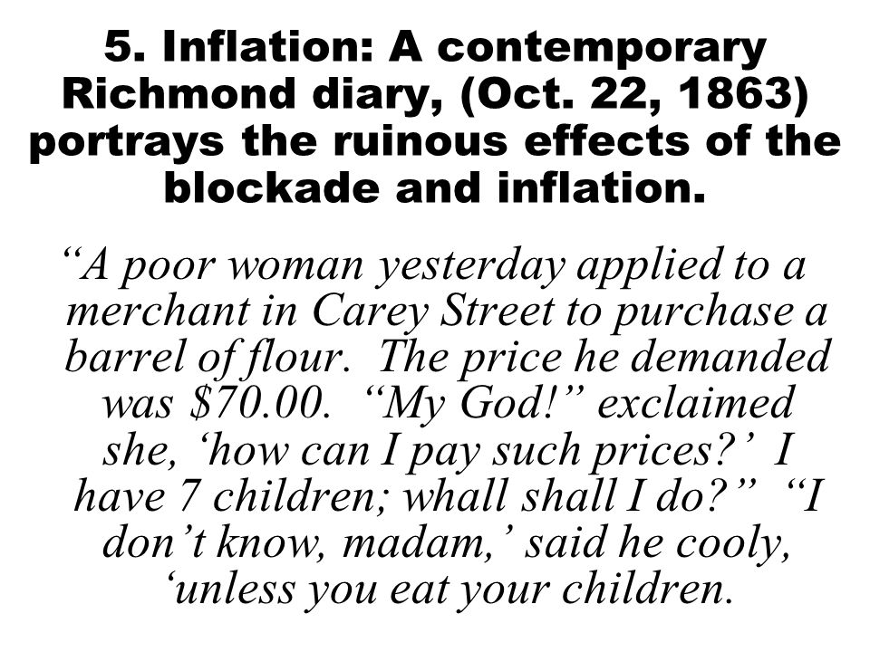 5. Inflation: A contemporary Richmond diary, (Oct