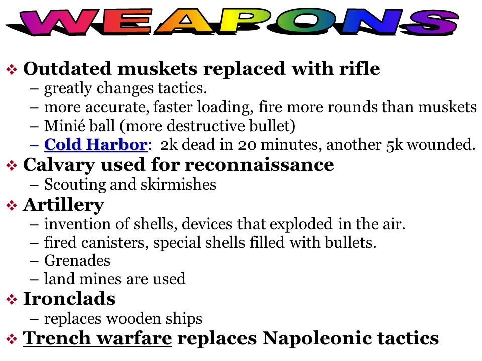 WEAPONS Outdated muskets replaced with rifle