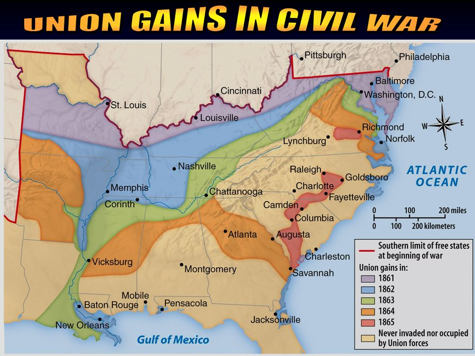 UNION GAINS IN CIVIL WAR
