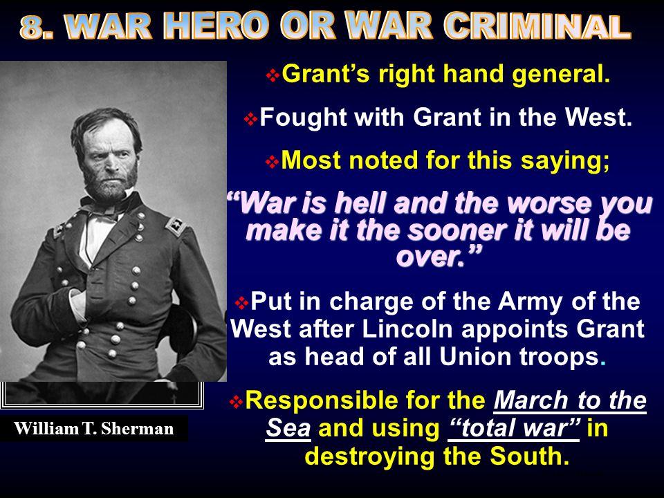8. WAR HERO OR WAR CRIMINAL