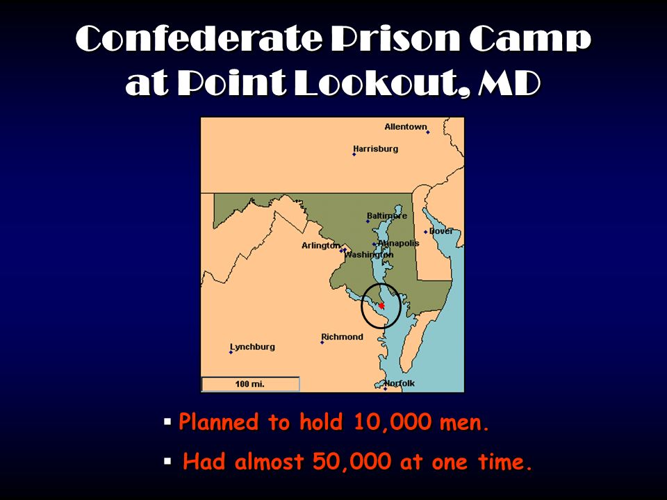 Confederate Prison Camp at Point Lookout, MD