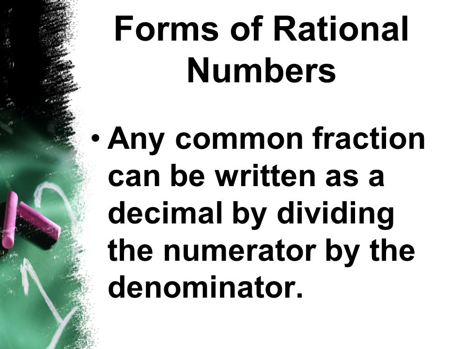 Forms of Rational Numbers